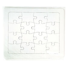 Blank Puzzle DIY, Jigsaw cardboard puzzles Create Puzzle,16pieces(19x17cm)-3pcs