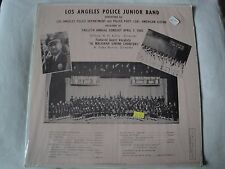 LOS ANGELES POLICE JUNIOR BAND VINYL LP 1965 HERB HAY RECORDERS #160, MONO EX