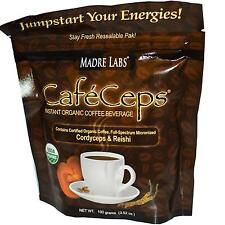 CafeCeps Instant Organic Coffee with Mushroom Extracts - 100g by Madre Labs