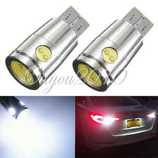 2x T10 501 W5W CANBUS ERROR FREE High Power LED COB Wedge Side Light Bulb White