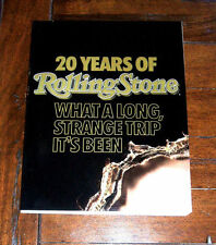 BOOK: 20 Years of Rolling Stone / Dylan Michael Jackson Grateful Dead Music NM