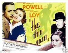 The THIN MAN William Powell Myrna Loy Movie Theater Vintage Poster / Art Print