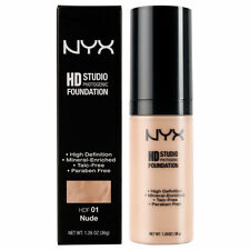 NYX HD Studio Foundation HDF01 Nude 1.26 oz ~ Brand New ~ *BOXED*