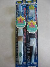 KISS YOU  regular size serration cut brush IONIC Toothbrush  Blue + replacement