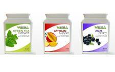 60 Green Tea Extract 60 Acai Berry 60 African Mango Diet Weight Loss Pack Bottle