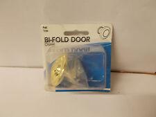 "1 3/4"" Wide  Large Slide-Co Bi-Fold Closet Door Brass Pull Knob 162780 X2"