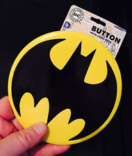 "BATMAN LARGE 6"" BAT EMBLEM BUTTON DC COMICS"