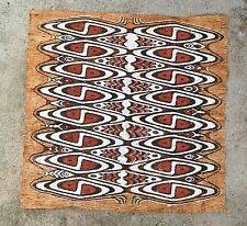 "Elegant Older Lake Sentani, Irian Jaya, PNG Tapa Bark Cloth 30""h x 31""w"