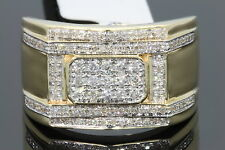 10K YELLOW GOLD .57 CARAT MENS REAL DIAMOND ENGAGEMENT WEDDING PINKY RING BAND