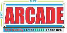 ARCADE Banner Sign NEW Larger Size Best Quality for The $$$$ GAMES