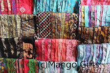 Vintage Silk Sari Recycled Scarves Stoles Patchwork scarf Wholesale Lot 10 Pcs