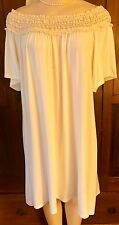 WOMENS PLUS DRESS 1X IVORY TUNIC NEW 14 16 XL LACE OFF SHOULDER NWT SPRING DEAL
