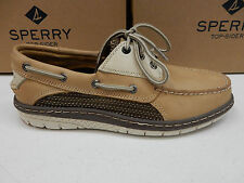 SPERRY TOP SIDER MENS BOAT SHOES BILLFISH ULTRALITE 3-EYE LINEN SIZE 10