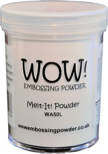 Wow Melt It Powder 160ml Jar Make 3D Embellishments With Embossing Powders WA50L