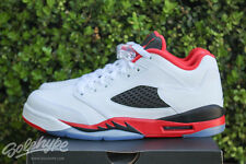 NIKE AIR JORDAN 5 RETRO LOW V GS SZ 6 Y FIRE RED WHITE BLACK 314338 101