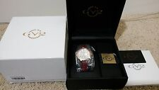 Gevril GV2 9104 Astor Women's Swiss Made Quartz 50 Diamonds Gold Watch NEW w Tag