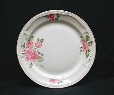 """Old Vintage Roseland by Gibson Housewares China 10"""" Dinner Plate Pink Roses Trim"""