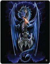 Anne Stokes Powerchord Guitar Dragon Gothic Polar Fleece Throw Rug Blanket