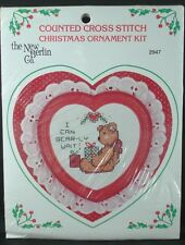 The New Berlin Co. Counted Cross Stitch Kit, BEAR HEART ORNAMENT