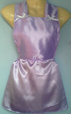 lilac satin skirt romper bib tutu french maid cosplay sissy adult baby fit 28-40