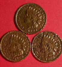 1909 (3 coin lot) Indian Head Cents   ID #77B-EE