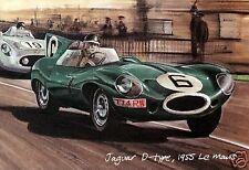 JAGUAR at LE MANS - Set of 4 Postcards - C D E-TYPE + XJR Racing Jaguar artwork