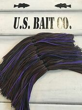 Bass Jig Skirts Living Rubber Lot Of 10 Color Brown Black Purple