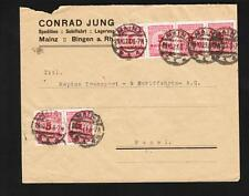 Germany Inflation (6) Million Mark Stamps C Jung Mainz 1923 to Switzerland z73