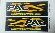 Lot of 2 complete set PAC RACING SPRINGS.COM  STICKER OFF ROAD 4X4 RACING