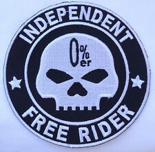 WILLI G SKULL NOMAD EMBROIDRED IRON ON BIKER PATCH
