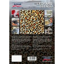 "Airbrushing stencil ""Leopard""  A4 template by Harder Steenbeck solvent resistent"