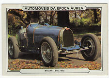 1986 Portugese Pocket Calendar Featuring Vintage Car - Bugatti 51A racing car