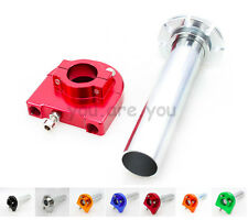 Red Handle Bar Throttle Tube Lever Control Scooter Sport Dirt Bike Motorcycle
