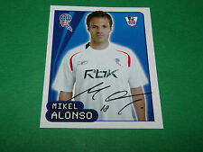 N°157 M. ALONSO BOLTON WANDERERS MERLIN PREMIER LEAGUE FOOTBALL 2007-2008 PANINI