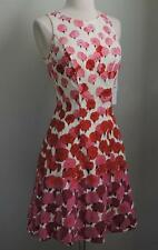 NWT MAGGY LONDON Pink & Cream Floral Fit & Flare Dress 8P (Med Petite) $119.00