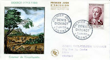 FRANCE FDC - 260 1168 3 DENIS DIDEROT LANGRES 7 6 1958