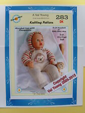 """DOLLS KNITTING PATTERN  for  Anabell  No 283 by Val Young 17""""-19"""" doll"""