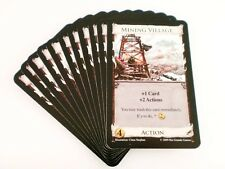 Dominion Intrigue Card Game Replacement - Mining Village Action Card 11x