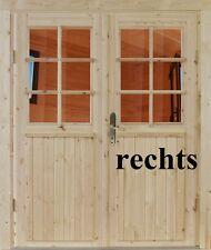 Doppeltür Einbautür tür Gartenhaustür Holztür Einzeltür Nach Maß