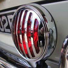 Deja de color rojo claro con rejilla de 356 Luz de Niebla signo para Porsche VW Hotrod Ford AAC146