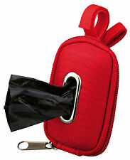 New Trixie Dog Poo Dirt Bag Dispenser For Dogs Lead Red / Black 22849