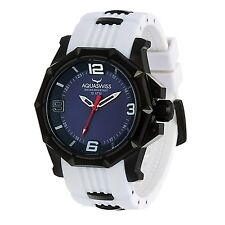 AQUASWISS Men's Vessel G Black PVD Brand New Swiss Ronda 503 Watch-List $1,495