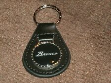 1960's 1970's FORD BRONCO SCRIPT LOGO VINTAGE LEATHER KEYCHAIN KEYRING NEW BLACK