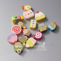 New 100 Pcs mixed fimo Polymer Clay Cake Spacer Beads 10mm