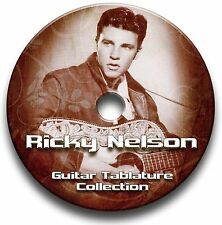 RICKY Nelson Rockabilly Rock Chitarra schede tablature SONG BOOK CD