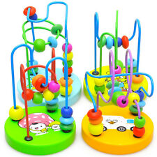 Baby Kids Wooden Around String Beads Toy Pretty Toddler Infant Intelligence Toy