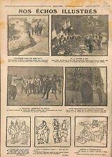Poilus Mort 14 Juillet Allée des Braves à Pau/Hôpital Americain Juilly 1915 WWI