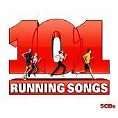 101 RUNNING SONGS 5 x CD Compilation Album Jogging Gym Fitness Music Training