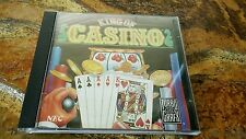Turbografx 16 KING OF CASINO Video Game W/ manual but different case NEC Hu Card