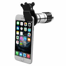 4in1 Clip On 12x Zoom Wide Angle Macro Telephoto Camera Lens Kit For Smartphone